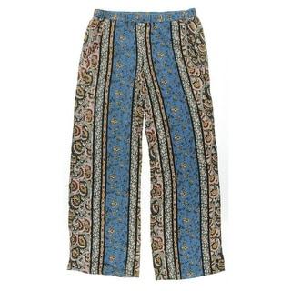 Ella Moss Womens Stretch Floral Print Lounge Pants - M