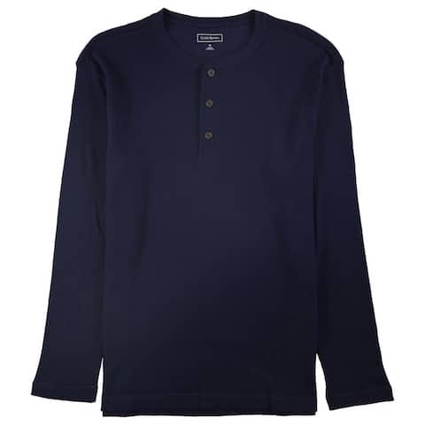 Club Room Mens Thermal Henley Shirt