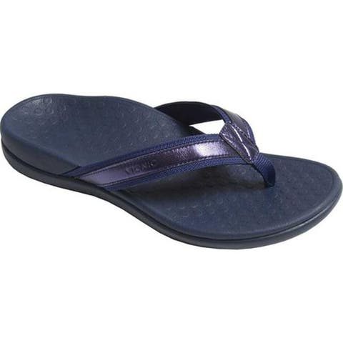 199491cf795 Vionic Women s Tide II Sandal Navy Metallic (Shoes.com Exclusive!)