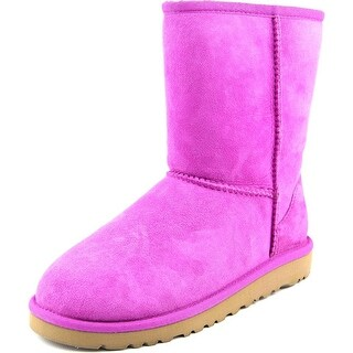 Ugg Australia Classic Short Youth Round Toe Suede Pink Winter Boot