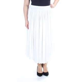 VINCE CAMUTO Womens New 1573 Ivory Maxi Pleated Casual Skirt XL B+B