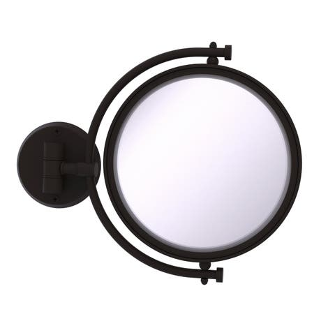 Allied Brass 8-in Wall Mounted Make-Up Mirror 5X Magnification