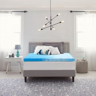 """Link to Comfort Revolution 4"""" Reversible Convoluted Memory Foam Mattress Topper Similar Items in Mattress Pads & Toppers"""