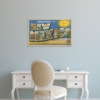 Easy Art Prints Unknown's 'Greetings from New Mexico' Premium Canvas Art