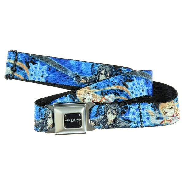 Sword Art Online Seatbelt Belt - Kirito & Asuna Pose Seatbelt Belt-Holds Pants Up