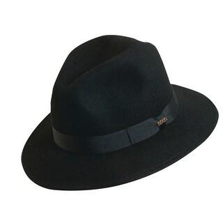 Scala Classico Men's 100% Wool Crushable Safari Hat - Black
