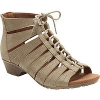 3f254f600c49 Rockport Women s Cobb Hill Gabby Gladiator Bootie Khaki Full Grain Leather