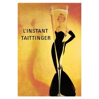 ''L'Instant Taittinger'' by Anon Vintage Advertising Art Print (36 x 24 in.)