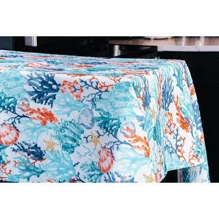 Link to Coralee Indoor Outdoor 100 Polyester Tablecloth Similar Items in Table Linens & Decor