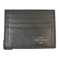 "Harley-Davidson Men's Gunmetal Leather Front Pocket Wallet, Black GM6563L-BLK - 4.5"" x 3.5"""