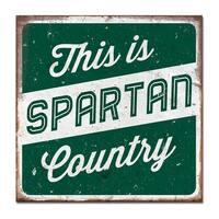Michigan State University Large Tin Sign