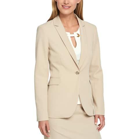 Tommy Hilfiger Womens One-Button Blazer Long Business