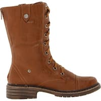 Wanted Shoes Womens Crowley Closed Toe Mid-Calf Combat Boots
