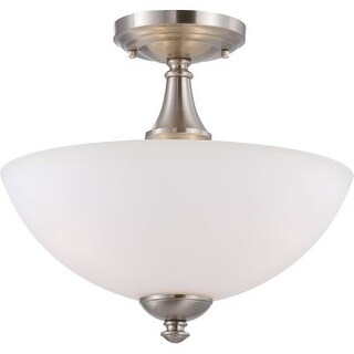Nuvo Lighting 60/5064 Patton ES 3 Light Semi-Flush Energy Star Rated Indoor Ceiling Fixture - 13 Inches Wide