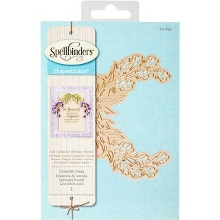 Lavender Swag - Spellbinders Shapeabilities Dies