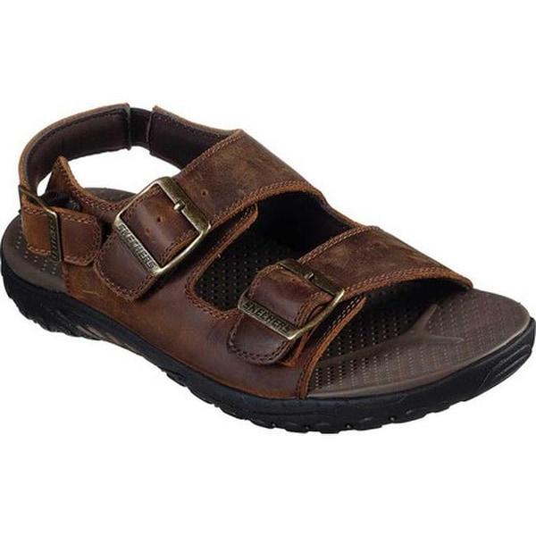 skechers mens leather sandals
