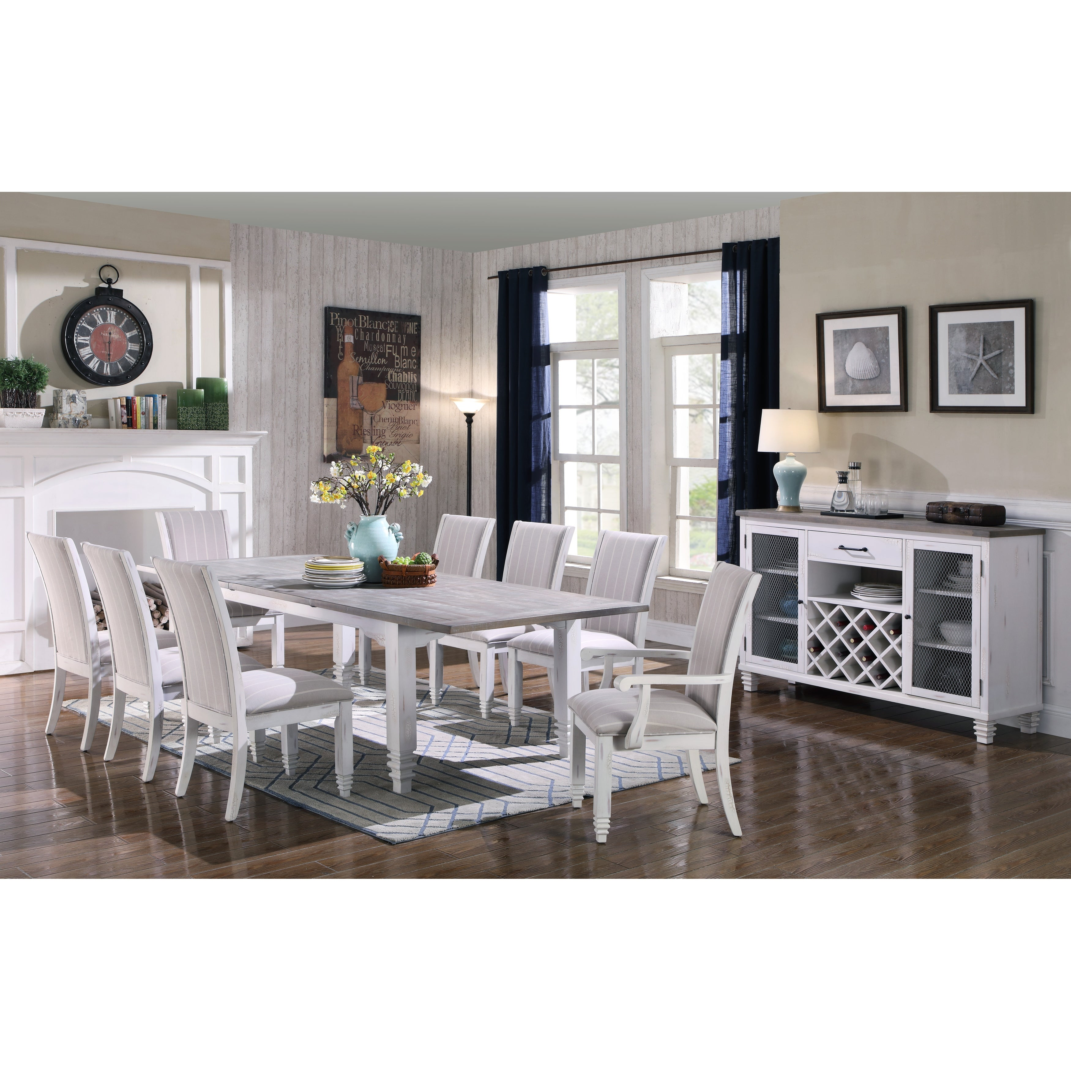 Image of: Shop Black Friday Deals On The Gray Barn Cornish Row White Country Upholstered Side Chair Overstock 25751656