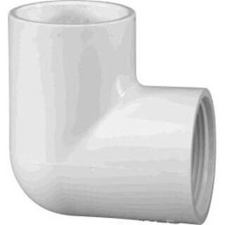"Charlotte Pipe & Found PVC 02301 1600 Sch 40 Pvc 90 Deg. Elbow 2"" - White"