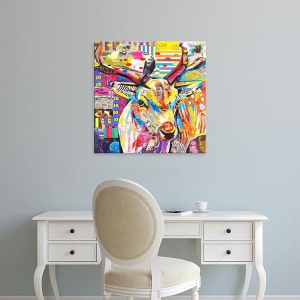 Easy Art Prints James Grey's 'Funky Deer' Premium Canvas Art