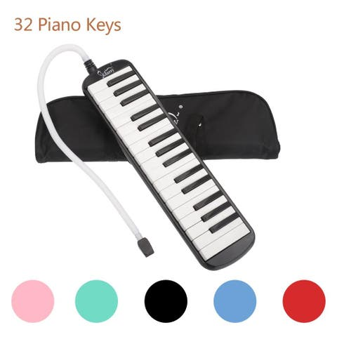 Glarry 32 Key Piano Style Melodica with Mouthpiece & Hose & Bag