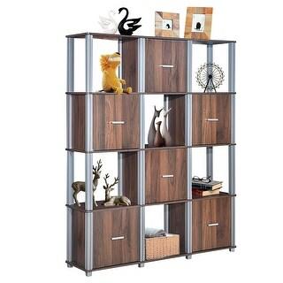 Link to Costway 4-Tier Storage Shelf 12 Cube Organizer Unit Display Bookcase - L46''x W11.5'' xH57'' Similar Items in Kids' Storage & Toy Boxes