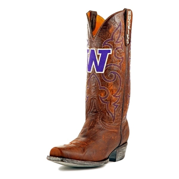Gameday Boots Mens College Team Washington Huskies Brass