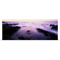 Poster Print entitled Sunset over the sea, 17-Mile Drive, Monterey Bay, California