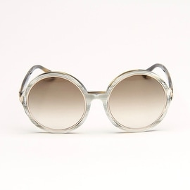 Carrie White And Grey Marble Stripe Sunglasses