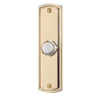 NuTone PB61L Flat Rectangular Lighted Door Bell Pushbutton