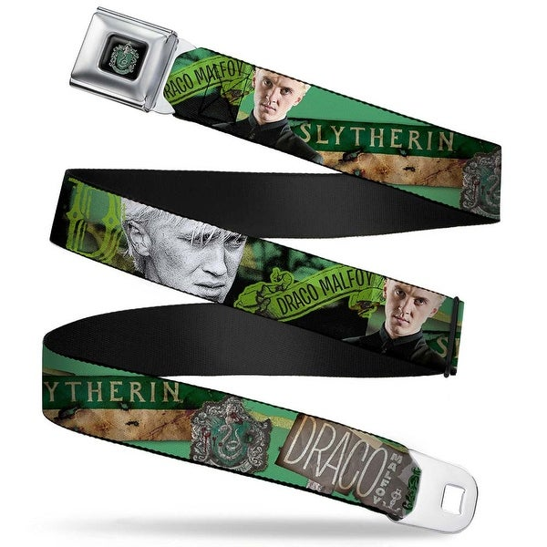 Slytherin Crest Full Color Draco Malfoy Poses Draco Malfoy Slytherin Seatbelt Belt