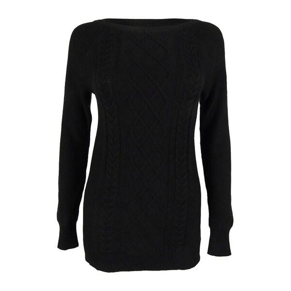 0edd4e384c0 Shop American Living Women s Cable Lattice Crewneck Sweater - Free ...