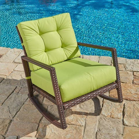 Pheap Outdoor Wicker Rocking Chair by Havenside Home