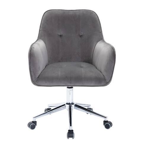 Corvus Wieden Contemporary Velvet Tufted Adjustable Ergonomic Home Office Chair