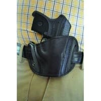 Leather Belt Slide Holster Black Small