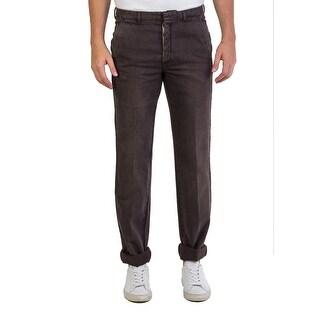 Prada Men's Relaxed Fit Brown Jeans Pants - 32