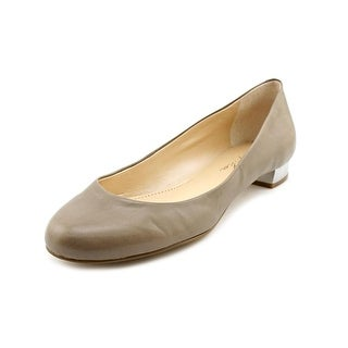 Marc Fisher Scotty Women Round Toe Leather Brown Flats