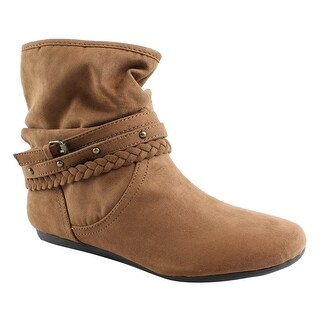 REPORT Womens Elson Dark Tan Ankle Boots Size 6.5