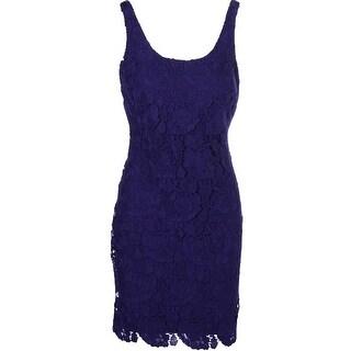 Lauren Ralph Lauren Womens Lace Sleeveless Cocktail Dress