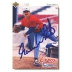 Gabe White Montreal Expos 1992 Upper Deck Top Prospects Autographed Card Rookie Card This item co