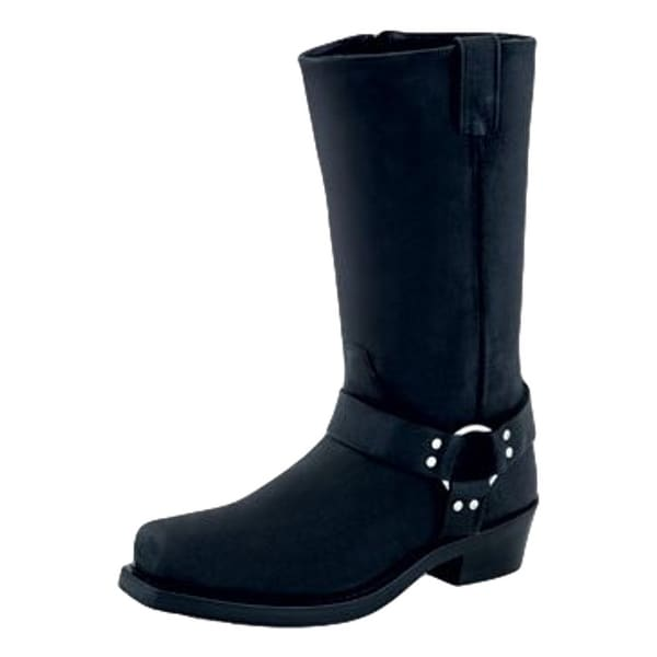 Old West Fashion Boots Mens Harness Goodyear Welted Lined Black