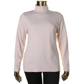 Karen Scott Womens Cotton Turtleneck Pullover Sweater