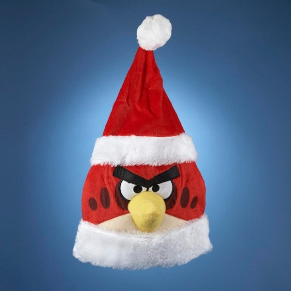 "20"" Red and White Angry Birds Themed Christmas Santa Hat"
