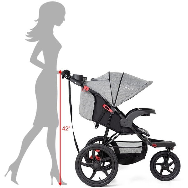 Foldable Lightweight Infant Baby Stroller Jogger All-terrain w// Cup Phone Holder