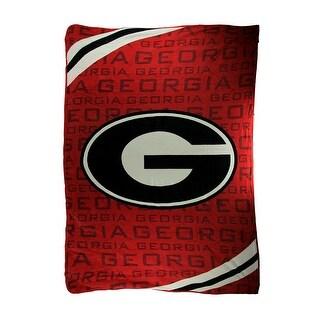 University of Georgia Bulldogs Super Plush Raschel Throw Blanket 62 X 90 - Red