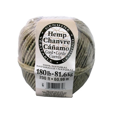 Darice Natural Hemp Cord Ball 180# 200 ft