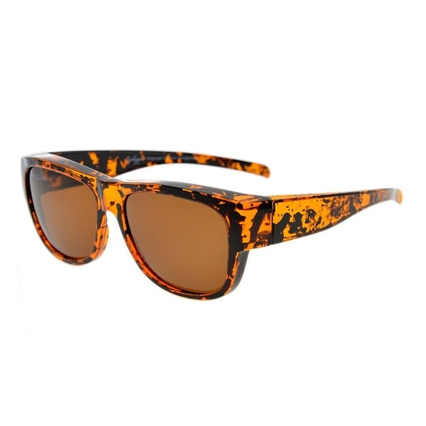 f84bc9c80e05 Eyekepper Polarized Fitover Sunglasses for Prescription Glasses (Amber  Tortoise/Brown Lenses)