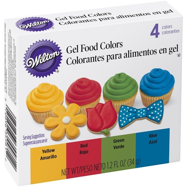 Decorating Icing Set 1.2oz 4/Pkg-Primary