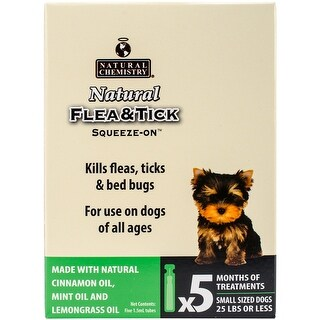 - Natural Flea & Tick Squeeze On For Small Dogs 5/Pkg