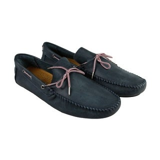 GBX Jeyck Mens Blue Leather Casual Dress Slip On Loafers Shoes