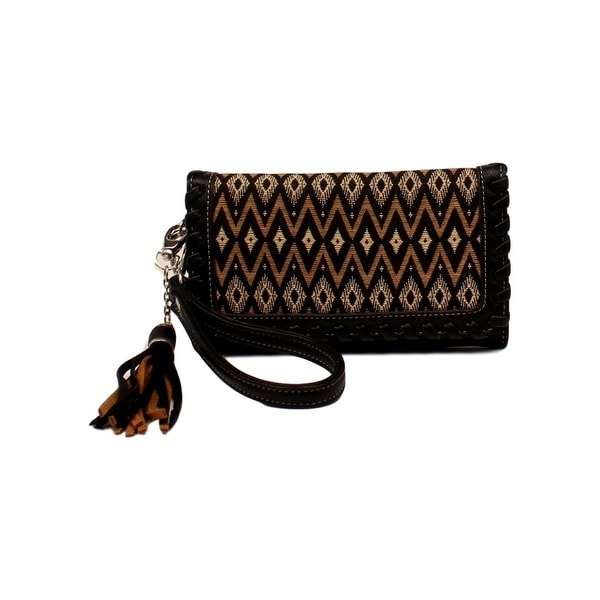 Blazin Roxx Western Wallet Womens Wristlet Arizona Tan Black - 7 1/2 x 4